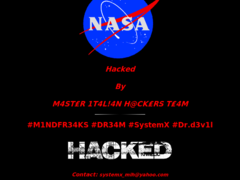 Thumbnail of defaced ppmo.arc.nasa.gov