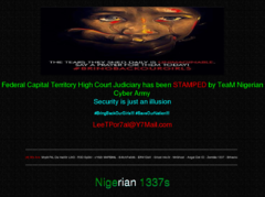 Thumbnail of defaced www.fcthighcourt.gov.ng