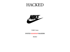 Thumbnail of defaced www.nike.mk