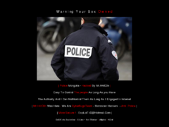 Thumbnail of defaced www.police.gov.mn