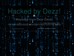 Thumbnail of defaced domain.dek.cc