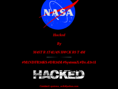 Thumbnail of defaced spaceshop.arc.nasa.gov