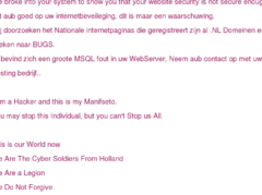 Thumbnail of defaced www.bannederland.nl