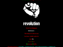 Thumbnail of defaced www.drcom.be