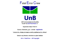 Thumbnail of defaced fs.unb.br
