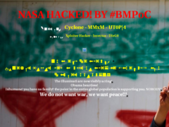 Thumbnail of defaced academy.arc.nasa.gov