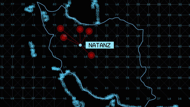 Zero Days map of Natanz attacked by Stuxnet